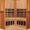 4-Person Clearlight Sanctuary Full Spectrum Corner Sauna Cedar thumb 4