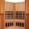 4-Person Clearlight Sanctuary Full Spectrum Corner Sauna Cedar thumb 6